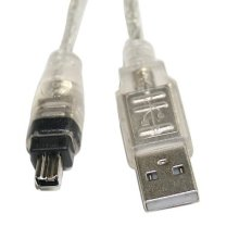 PROMOTION! New 1.4 M USB 2.0 to IEEE 1394 Firewire 4 Pin Extension Cable for Digital Camera(China)