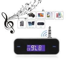 Mini Wireless Transmitter 3.5mm In-car Music Audio FM Transmitter For iPhone 6 7 Plus Samsung iPad Car MP3 Transmitter