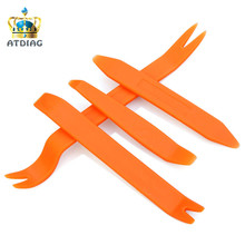 Best Price 4pcs Auto Car Radio Panel Door Clip Trim Dash For Nissan Qashqai For Ford(China)