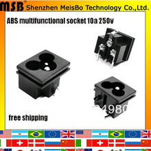 Global CE Rohs 250v 2.5A abs material timer socket 1000pcs/lot free shipping by fedex(China)