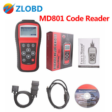 DHL Free 2017 Multi-Functional Scan Tool MaxiDiag Pro MD801 4 in 1 Code Scanner MD 801 = JP701 + EU702 + US703 + FR704(China)