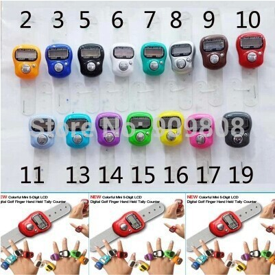 free shipping 240 X Mini Digital Electronic Muslim Finger Ring Tally Counter Tasbeeh Tasbih Golf &Temple Wholesale Low Price(China)