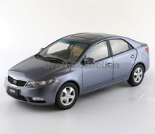 * Grey 1:18 KIA Forte 2009 Rare Alloy MPV Model Diecast Cars Toy Car Gifts Craft Miniature Rare to Find High Collection Value