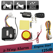 Two Way Motorcycle Scooter Alarm Remote Control Engine Start Vibration Alarm Universal Anti-theft Security System 12v(China)