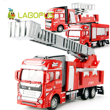 High Quality 1:50 Alloy Model Toy Aerial Rescue Fire Truck Kids Educational Toys Children Collection Boy New(China)