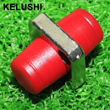 KELUSHI 10PCS telecommunication level FC square flange FC-FC optical fiber coupler adapter FC optical fiber adapters