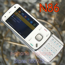 Original Nokia N86 Mobile Phone White Unlocked N86 Cell Phone 3G WIFI 8MP Bluetooth MP3 Free Shipping(China)