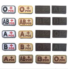 10set/lot Fashion custom embroidery magic sticks collar embroidery blood type chapter tactical arm badge embroidery flag patches
