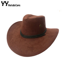 Fashion Western Cowboy Hats Wholesale Womens Mens Tourist Caps for Travel Men Womens Outdoor Performance Hat YY0270-1(China)