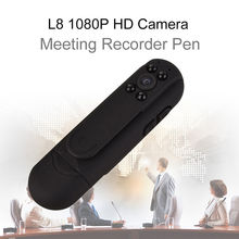 L8 1080P HD Infrared Night Vision Camera Meeting Pen Mini Digital Video Recorder 2400mAh 12MP CMOS cam(China)