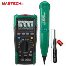 1pc MASTECH MS8236 AutoRange Digital Multimeter LAN Tester Net Cable Tracker Tone Telephone line Check Noncontact Voltage Detect(China)