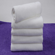 5Pcs New Cotton Hand Bath Towel Washcloths Salon Spa Hotel Beach White 30*60CM P15