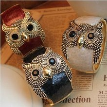 New arrival Personality Owl wide brand bangles Fashion jewelry 3colors big bracelets & bangles for women men jewelry gift