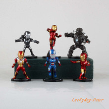 Action Figure Toys Iron Man 1/7 scale painted figure Iron Man figure one pack of six Garage Kits Brinquedos Anime