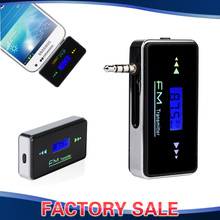 LCD Display 3.5mm In-car FM Transmitter Radio Adapter Hands Free Function for iPhone Samsung Lumia HTC Sony