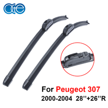 Oge Pair Windscreen Wiper Blades For Peugeot 307 2000 20012002 2003 2004 Rubber Windscreen Car accessories