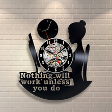 1Piece Girl Room Decor Vinyl Record Clock Wall Art Home Decor Handmade CD Vintage Creative Timepiece Gift