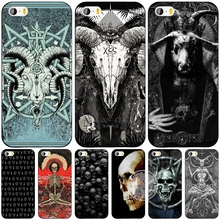 satanic scary skull cell phone Cover case for iphone 6 4 4s 5 5s SE 5c 6 6s 7 plus case for iphone 7