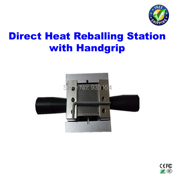 Direct heat reballing station with handle, direct heating BGA stencils holder, reballing holder<br>