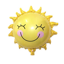 Smile Sun balloons Baby shower air balls Helium foil Balloons sun ball  Happy Birthday Decorations wedding balloon baloes