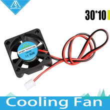 Free shipping 12V/24V V6/V5 radiator 3010 fan 30*30*10mm 3010s DC small fan cooling extruder 2-wire 3d printer accessories part