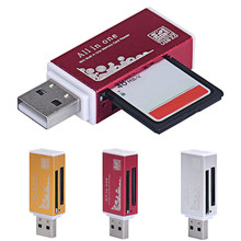 D3 Compatible For T-Flash USB 2.0 All In 1 Multi Memory Card Reader