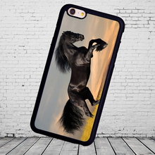 Wild Horse Mustang Nature Printed Soft Rubber Phone Case Coque For iPhone 6 6S Plus 7 7 Plus 5 5S 5C SE 4 4S