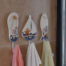 Mediterranean Style Bathroom Towel Hanging Hook Slipper Ship Fish Decoration Home Decoration Accessories(China)