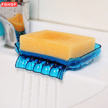 New Soap Storage Box Dish Case Makeup Organizer Water Drain Sponge Holder For Kitchen Double Sucker Bathroom Kitchen Organizer