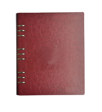 100 pcs/lot High quality Red Leather Menu Holder DIY LOGE Customize Menu Folder Upscale Restaurant Hotel Cafe Bar Menu Cover