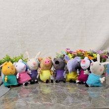 8Pcs/Lot Pepa Pink Pig Friends Rebecca Suzy Sheep Candy Danny Pedro Emily Plush Toys Brinquedos Birthday Gift for Kids Anime Toy