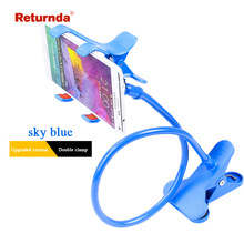 Universal flexible holder Arm Lazy Mobile Phone Stand Holder Stents Flexible Bed Desk Table Clip Bracket For iphone for Samsung