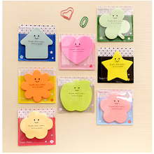 2016 Real New No Post It Scrapbooking Stickers Papelaria Stickers Candy Color Sticky Memo Pad Message Posted Cartoon N Times(China)