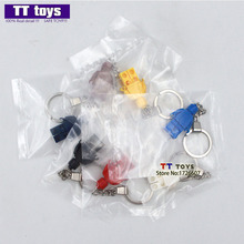 Single Sale Limited Supplies Blank Unprinted Pure Color Packed in Sealed Opp Bag MOC Custom Keychain Fashion Toy