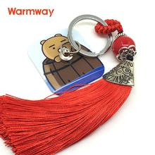 Warmway Cute Ryan Theme Portable Mobile Phone Strap Ring Holder with Reusale Rewashable Nano Silicone Glue 2017 New Design(China)