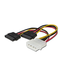 50 Pcs Wholesale 2-Port SATA Splitter Power Cable 2 x 15-Pin IDE to 2 Sata Power Cable fast shipping by DHL EMS(China)