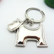 Dog Keychain Cute Metal Key Chain Women Ring Llaveros Mujer Trinket Brelok Anneau Porte Clef Portachiavi Auto Bag Charm Chaveiro(China)