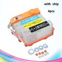 4pcs For HP670 670 XL 670xl deskjet 3525 4615 4625 5525 6525 printer refillable ink cartridge with chip for South America market
