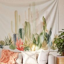 Tapestry Cactus Wall Hanging Cotton Bohemian 150*150cm Cover Beach Towel Throw Blanket Picnic Yoga Mat Home Decoration Textiles(China)