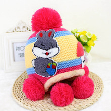 2017 New Winter Korean Baby Hat Cute Newborn Crochet Hat Colorful Baby Hedging Cap Newborn Accessories Studio Booth Props