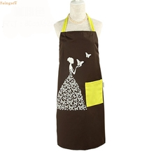 Saingace Creative Butterfly Girl Necessary Anti-fouling Prevent Dirty Kitchen Apron U61214 DROP SHIP