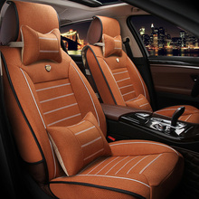 Universal Linen car seat cover For Ford mondeo Focus 2 3 kuga Fiesta Edge Explorer fiesta fusion car accessories styling(China)