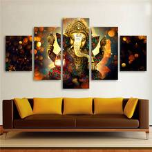 Buy Hdartisan Canvas Painting Wall Art Home Decor Living Room Hd Prints 5 Pieces Elephant God Ganesha Poster Picture -105141-JBO for $22.18 in AliExpress store