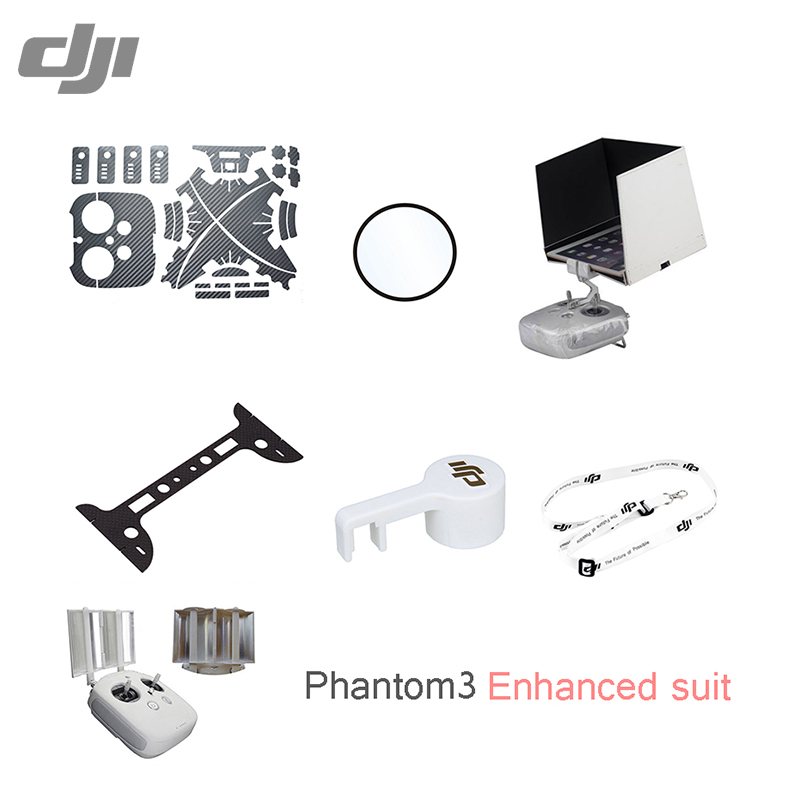 DJI Phantom 3 Enhanced suit body sticker bottom protection lens protective film light shield signal enhancer UAV DJI accessories<br><br>Aliexpress