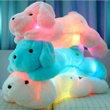 Hot!! 1Pcs Cute 50CM Length Creative Night Light LED Lovely Dog Stuffed and Plush Toys Best Gifts for K(China)