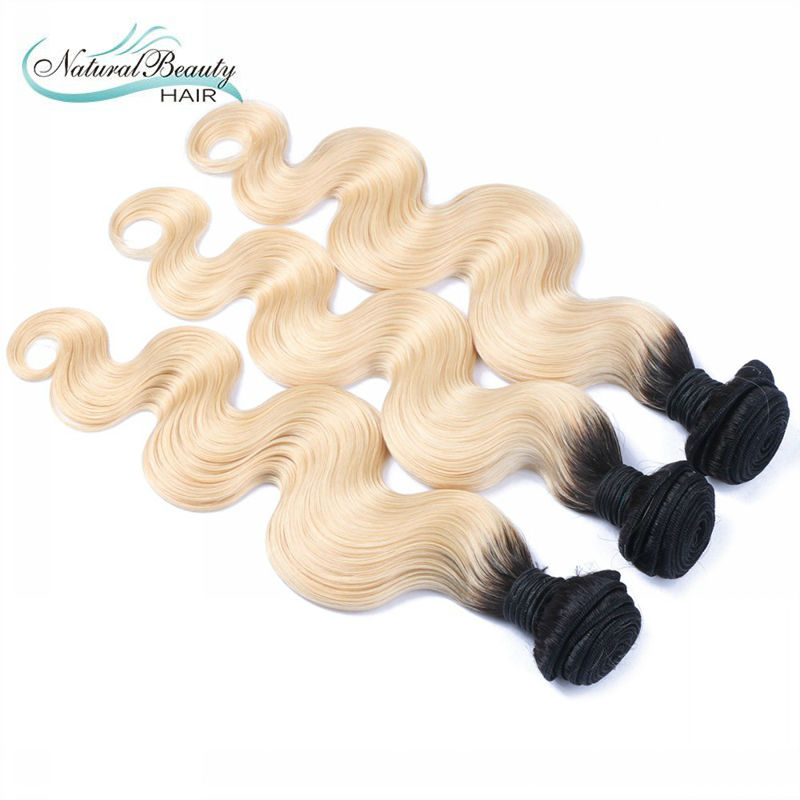 Ombre Peruvian Virgin Hair Body Wave T1B/613 Dark Root Blonde Ombre Hair Extensions 3Pcs Lot Two Tone Ombre Human Hair Bundles<br><br>Aliexpress