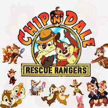 pvc removable cartoon wall sticker for kids rooms decoration cute chip and dale resue rangers self-adhesive poster