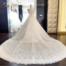 Buy Newest A-line Wedding Dress 2018 Appliqued Floral V-Neck Lace Bridal Gowns vestido de noiva Sexy Backless casamento for $233.43 in AliExpress store