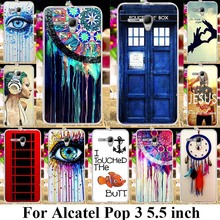 AKABEILA Soft Plastic Phone Cases For Alcatel OneTouch Pop 3 5.5 inch 5025 5060D 4G Version Covers Bag Telephone Booth Skin(China)