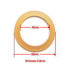 1pc Piston ring 49*68*0.8, teflon material ring for oilfree air compressor, spare parts